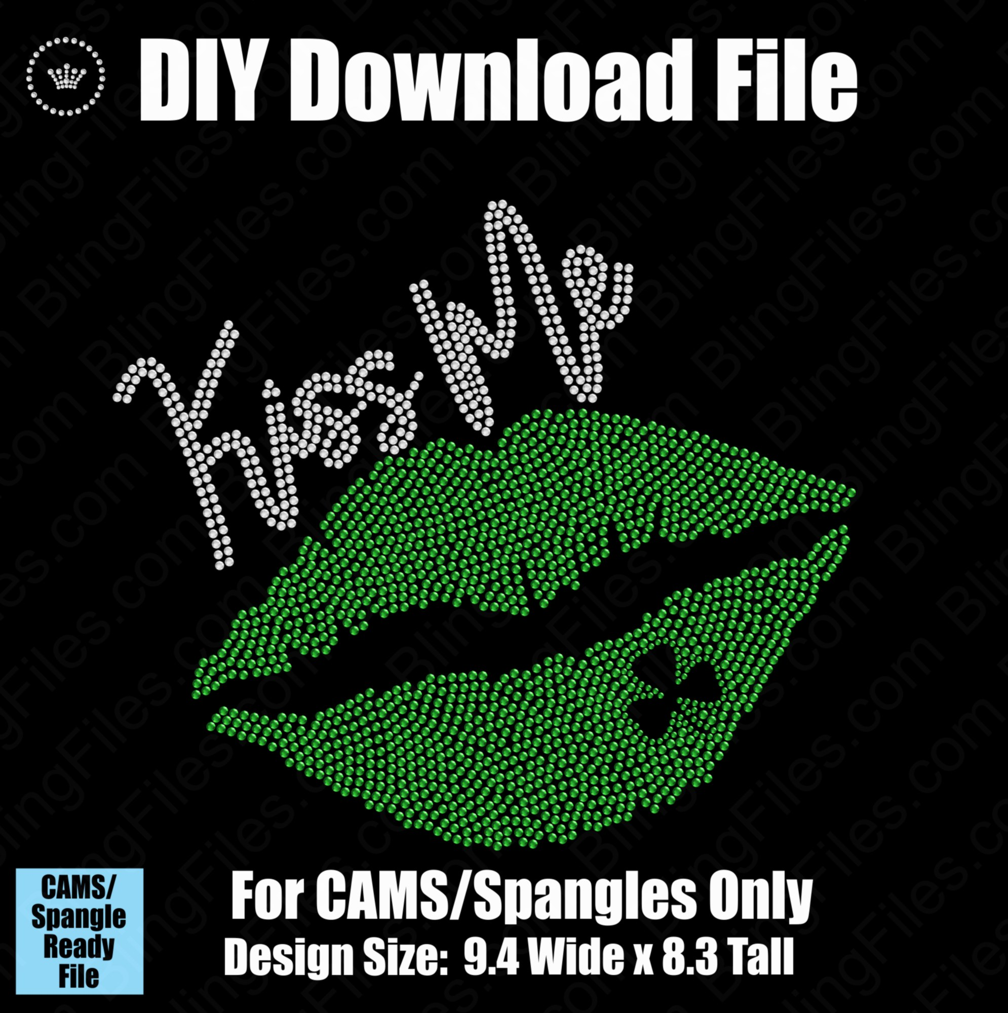 Kiss Me St Patty's Shamrock Day Lips Download File - CAMS/ProSpangle