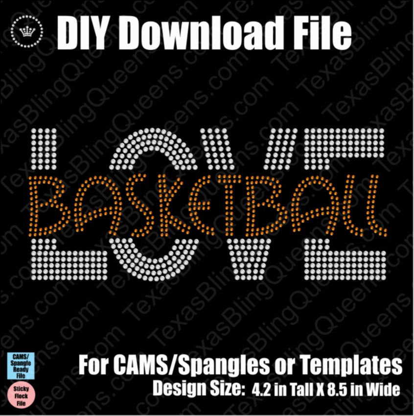 Love Basketball #2 Download File - CAMS/ProSpangle or Templates