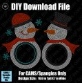 Snowman Frames for Monogram Download File - CAMS/ProSpangle