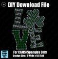 LOVE Shamrock St Patty's Day Download File - CAMS/ProSpangle