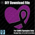 Awareness Heart (2 sizes) Download File - CAMS/ProSpangle