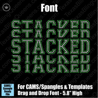 "Stacked Athletic 5.8"" FONT Drag & Drop Alphabet Download File - CAMS/ProSpangle"