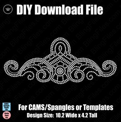 Flourish Large Element DSG & SVG Download File - CAMS/ProSpangle or Templates