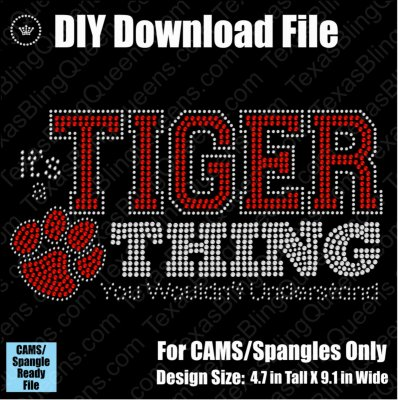 It's a Tiger Thing Mascot Download File - CAMS/ProSpangle