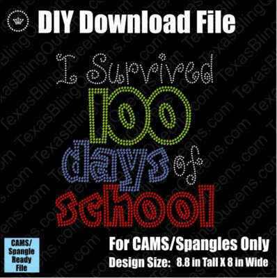 100 Days of School Combo Teacher Download File - CAMS/ProSpangle