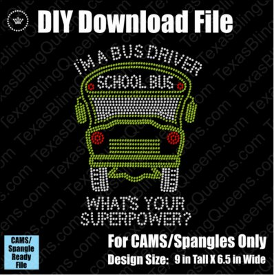 School Bus Driver Superpower Download File - CAMS/ProSpangle