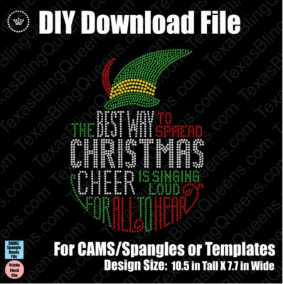 Elf Christmas Cheer Christmas Download File - CAMS/ProSpangle/Templates