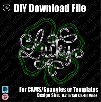Lucky Shamrock 2 Pack St Patty's Day Download File - CAMS/ProSpangle/Templates