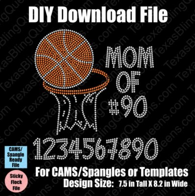 Basketball Mom of Number Download File - CAMS/ProSpangle or Templates