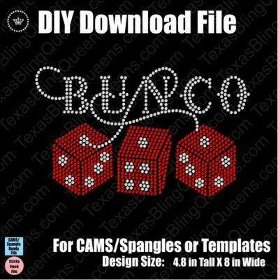 Bunco Dice Game Download File - CAMS/ProSpangle or Templates