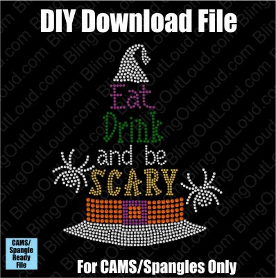Eat, Drink, and Be Scary Halloween Download File - CAMS/ProSpangle