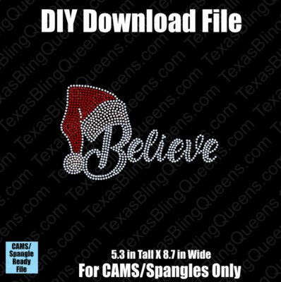 Believe with Santa Hat Small Christmas Download File - CAMS/ProSpangle