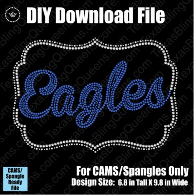Eagles Name Frame Mascot Download File - CAMS/ProSpangle